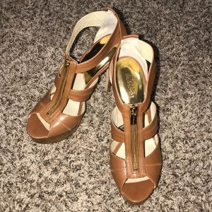 Brown Michael Kors heels
